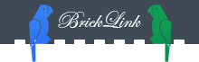 BrickLink's logo with original birds and font.